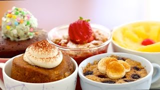 5 New 1 Minute Microwave Mug Cakes Celebration! (includes Vegan, Egg-free & Flourless Recipes)