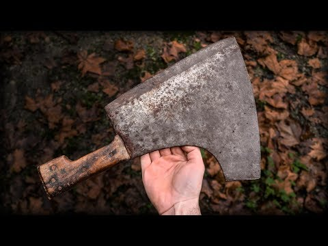 Knifemaker Restore Antique Bone Cleaver
