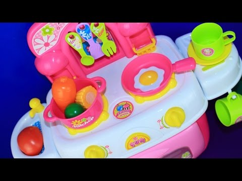 Save Toy Kitchen velcro fruit vegetables cooking soup baking bread cookies toy food asmr Pictures