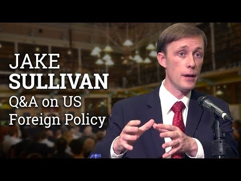 Liberal International Order and 'the Tyranny of the Minority' | Jake Sullivan Q&A (2017)