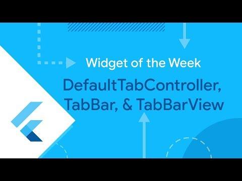 DefaultTabController & TabBar (Flutter Widget of the Week)