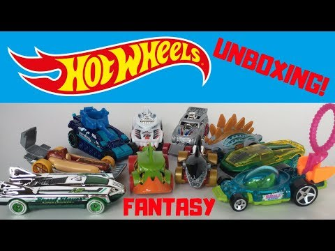 Hot Wheels 2018 Fantasy Cars Unboxing!!! SHORTCARDED!!! 13+