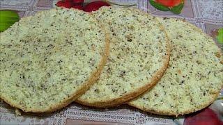 Ореховый бисквит высокий нежный воздушный biscuit with nuts recipe