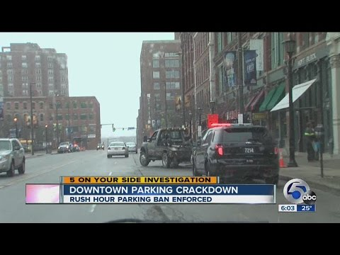 Increased Enforcement Of Rush Hour Parking Ban In Downtown Cleveland