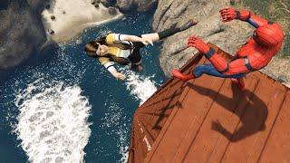GTA 5 Epic Ragdolls | SPIDERMAN Fails ep.71 (Euphoria Physics)