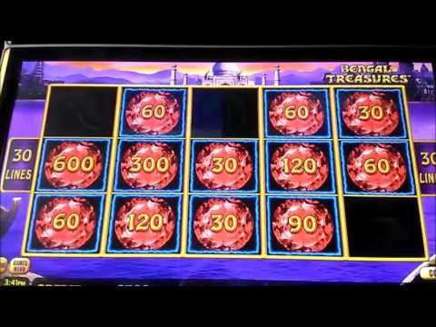 Lightning Link Bengal Treasure Bonus 30c bet nice win
