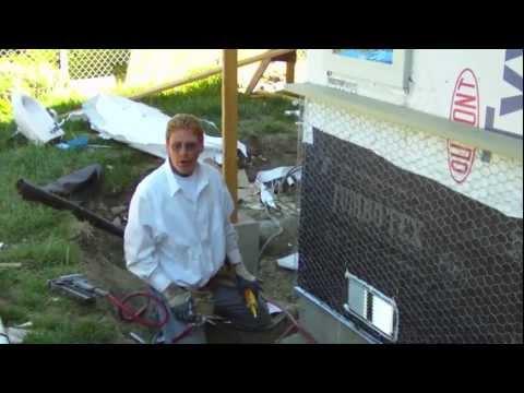 Apply Jumbo Tex Barrier Paper Over Dupont Tyvek Stucco