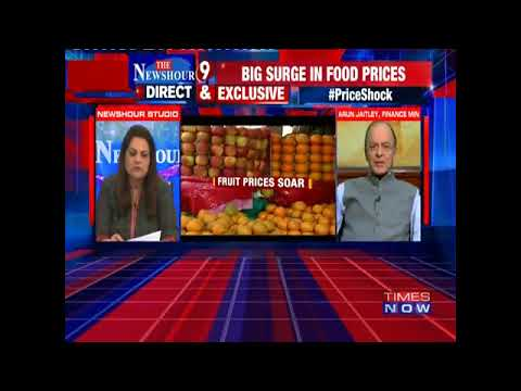 Navika Kumar Questions Finance Minister Arun Jaitley On Inflation Rates & Rahul Gandhi