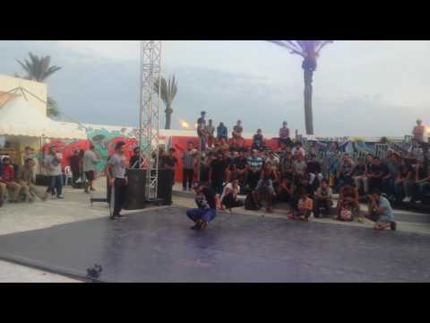 BBoy Red Eyes vs  Bboy Nidha (UK CHAMPIONSHIPS NORTH AFRICA TUNISIA 2016)