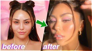 2021 GLOW UP (Y2K Tik Tok makeup, Colorful Graphic Liner &amp Glowy Skin)  Roxette Arisa