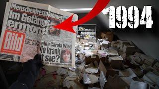 ALLES ZURÜCKGELASSEN | Haufenweise Akten und Dokumente von 1990 gefunden!