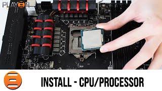 how to install a processor cpu into a motherboard intel lga 1150 1151 socket