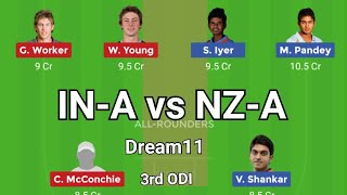 IN-A vs NZ-A 3rd ODI Match Dream11 Team || India A vs New Zealand A...