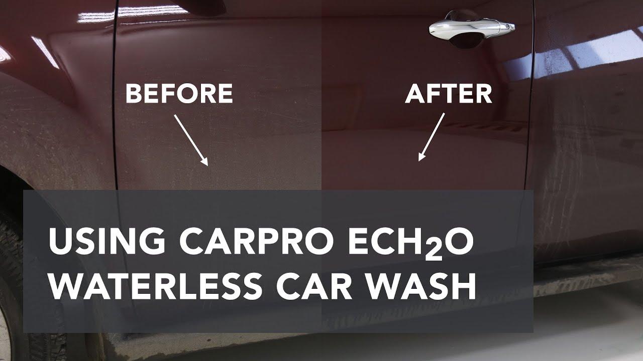 Using Carpro Ech20 Waterless Car Wash Youtube