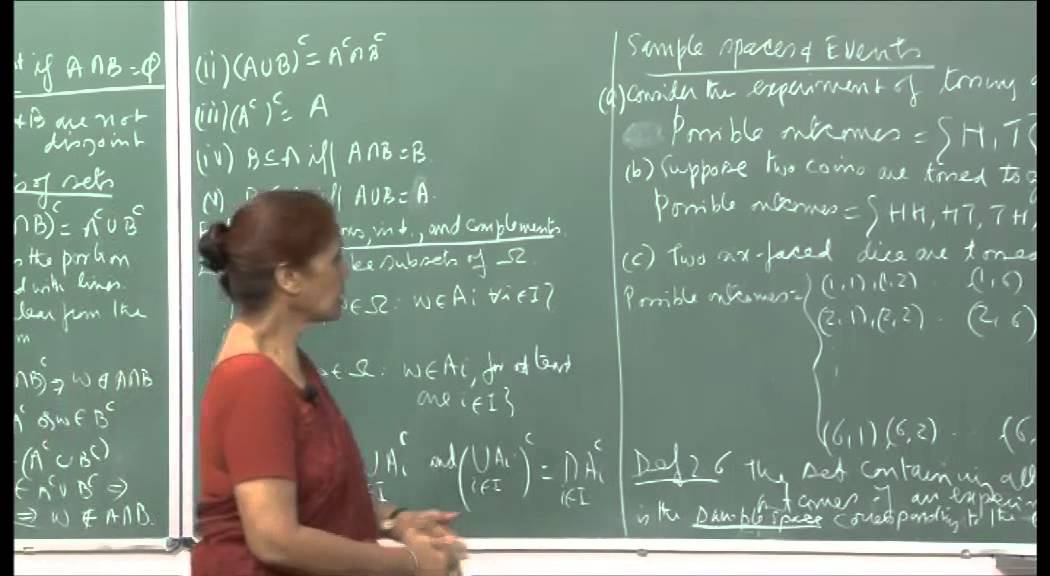 Mod-01 Lec-02 Sample space , events, axioms of probability