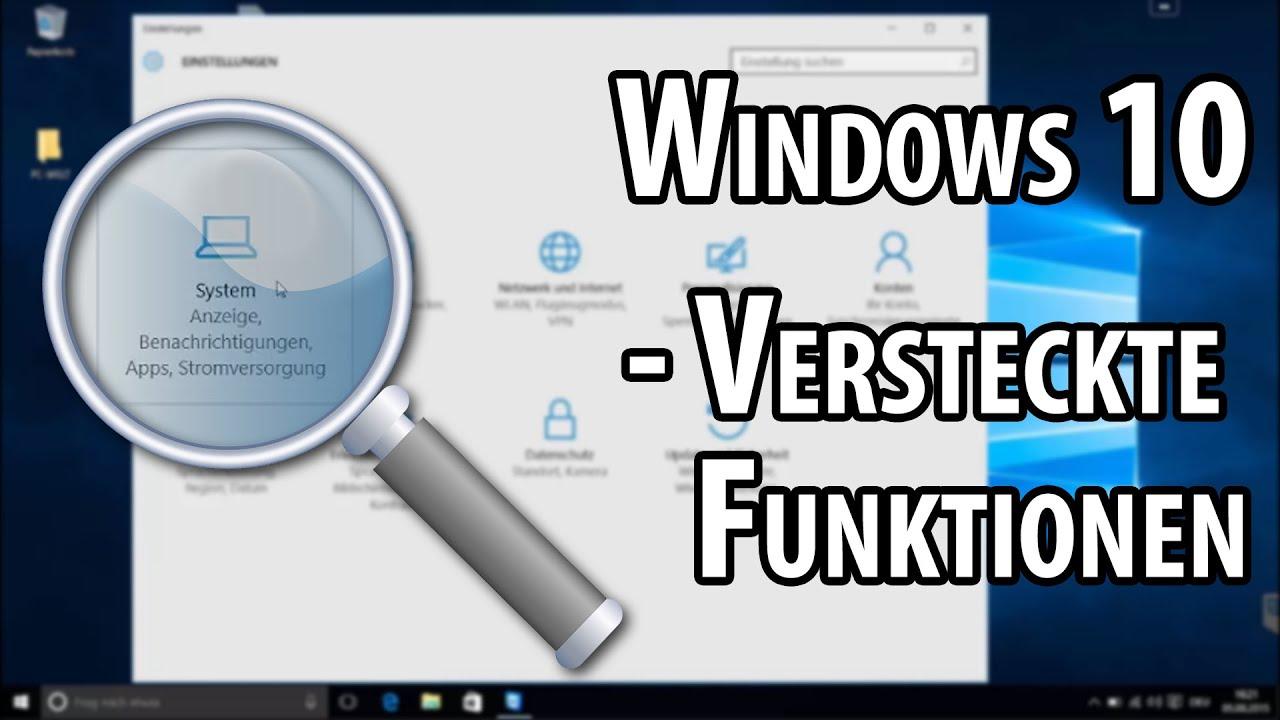 Download Versteckte Funktionen in Windows 10   deutsch / german