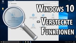 Versteckte Funktionen in Windows 10 | deutsch / german