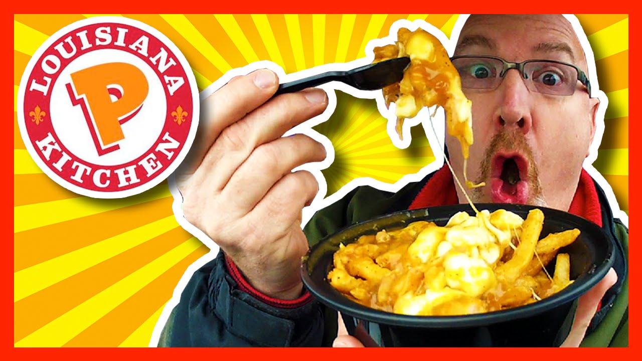 Popeyes Louisiana Kitchen Cajun Poutine Review - YouTube