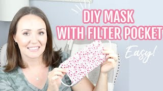 How To Sew A Medical Face Mask With Filter Pocket \\ Diy Face Mask Tutorial For Hospitals