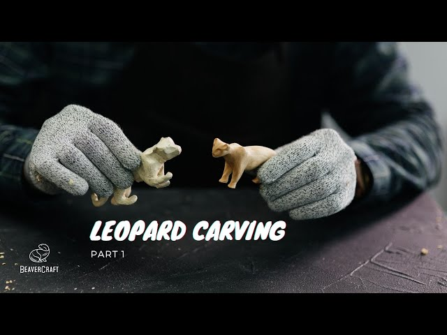 Wood Carving Ideas - Leopard Carving Part 1