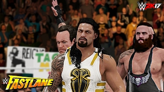 WWE 2K17 Fastlane 2017 - Roman Reigns vs Braun Strowman & Undertaker Attacks Reigns (Custom)