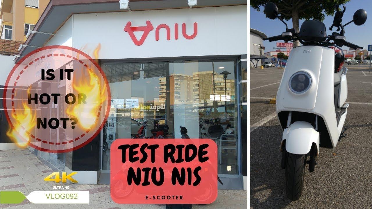 NIU E-Scooter N Series - Test Ride - VLOG092 [4K]
