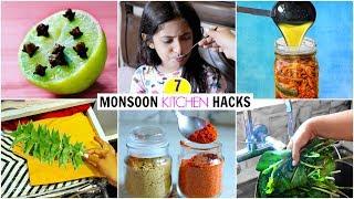 7 MONSOON Kitchen HACKS You MUST Know | Kitchen Tips & Tricks | CookWithNisha