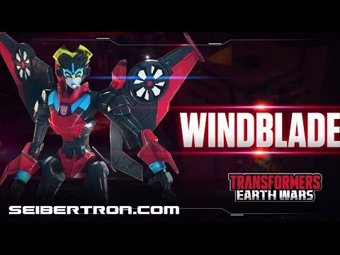 WINDBLADE Character Spotlight video and demo Transformers: Earth Wars