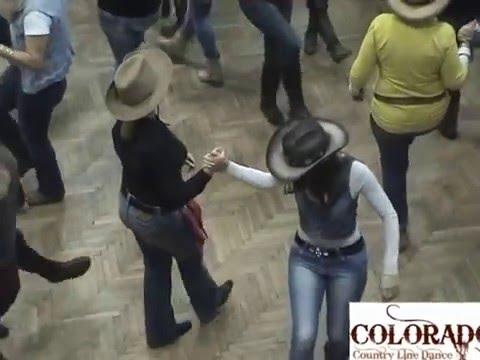 cowboy party 2.... Achy Breaky Heart...COLORADO Country Line Dance, sLOVEnia
