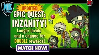 "PvZ 2 - Epic Quest - Inzanity February 3, 2018 - Featuring ""Guacodile"""
