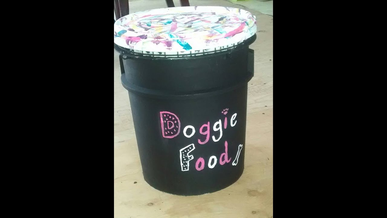 DIY: Dog Food Holder! - YouTube