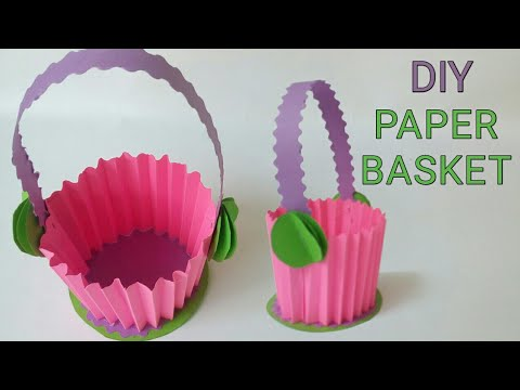 Diy paper basket easy | Diy paper crafts ideas | Diy paper gift basket | How to make paper basket