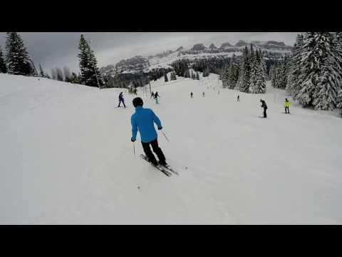 Flumserberg Ski Area - Snowboarding  January 2016 part 1 of 3