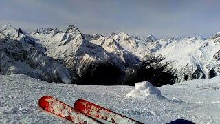 Домбай 2020 Обзор популярных трасс курорта на горных лыжах