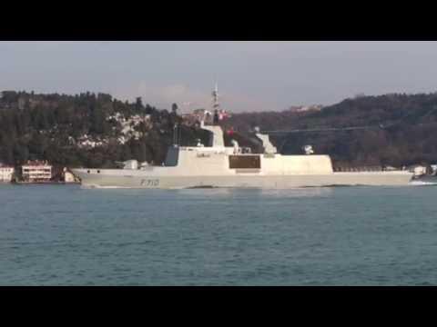 La Fayette transits Bosphorus