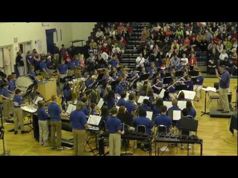 Karns Middle School 8th Grade Band 2011 Christmas Concert Part 1 Afterburn