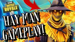HAY MAN Skin Gameplay! In Fortnite Battle Royale