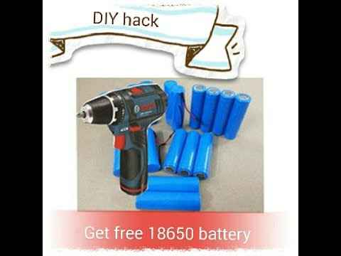 Get 18650 rechargeable battery from old crodless drill battery pack