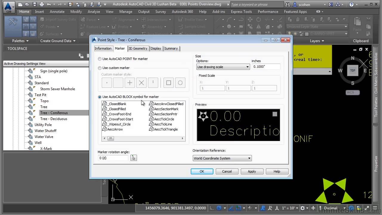 AutoCAD Civil 3D 2015 Tutorial   Points Overview