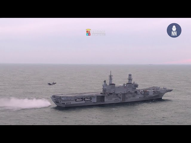 F-35B aboard Italian Navy Aircraft Carrier ITS Cavour for the first time