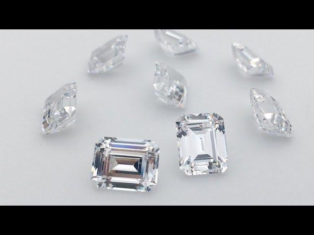 Top 5A Quality Loose Cubic Zirconia White CZ Emerald Cut 8x10mm Gemstones