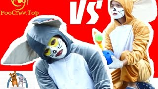 [Tom And Jerry In Real Life] Bowling challened by Tom and Jerry Ep3 -part1