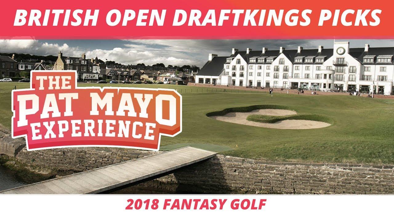 fantasy golf picks  2018 british open draftkings picks