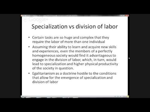 Division of labor and money