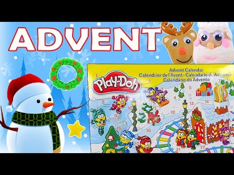 PLAY DOH Full 24 Day Advent Calendar Opening *** DCTC Playdough videos