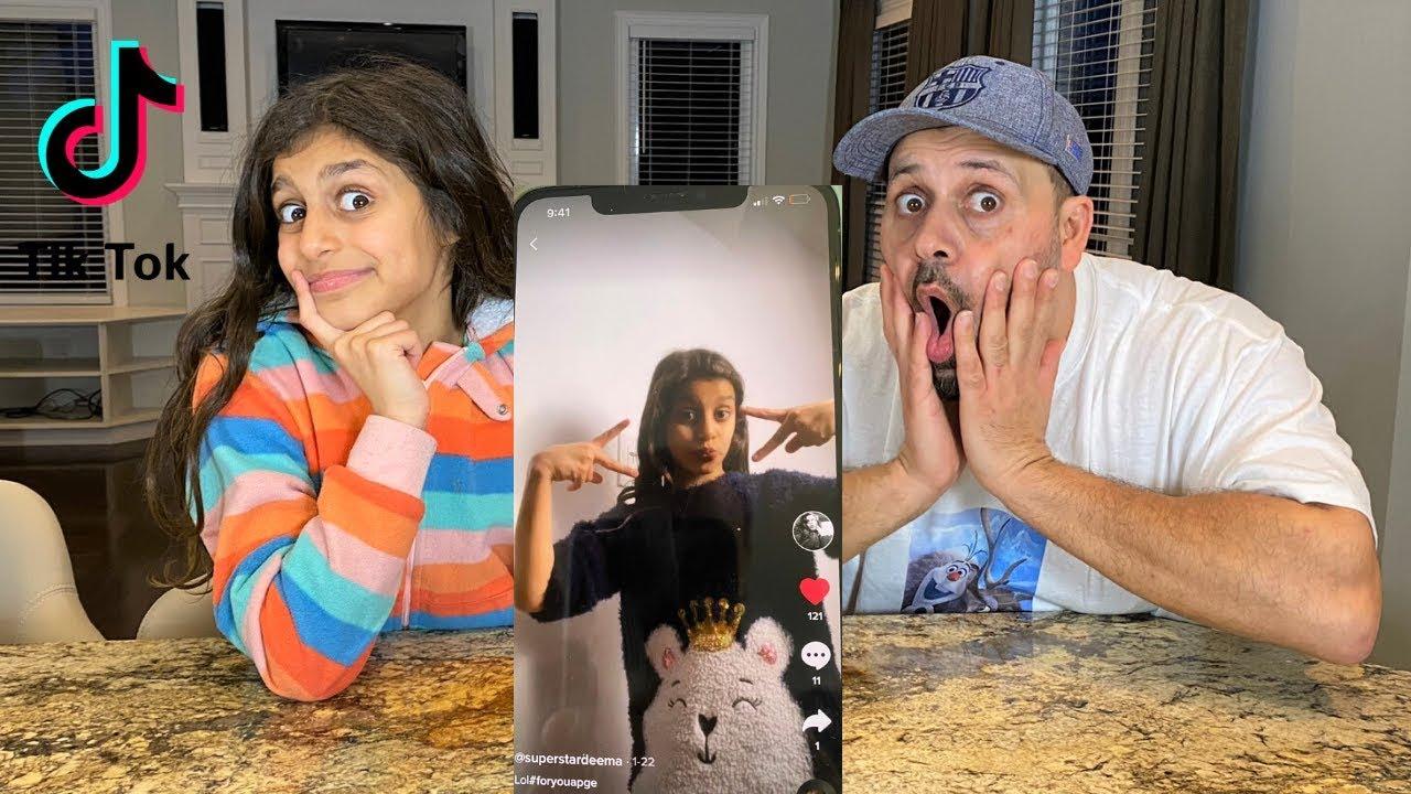Download Reacting to my 10 year old Daughter's TIKTOK