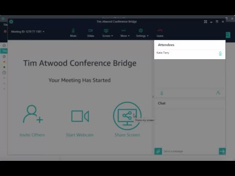 Join an Amazon Chime Meeting Early