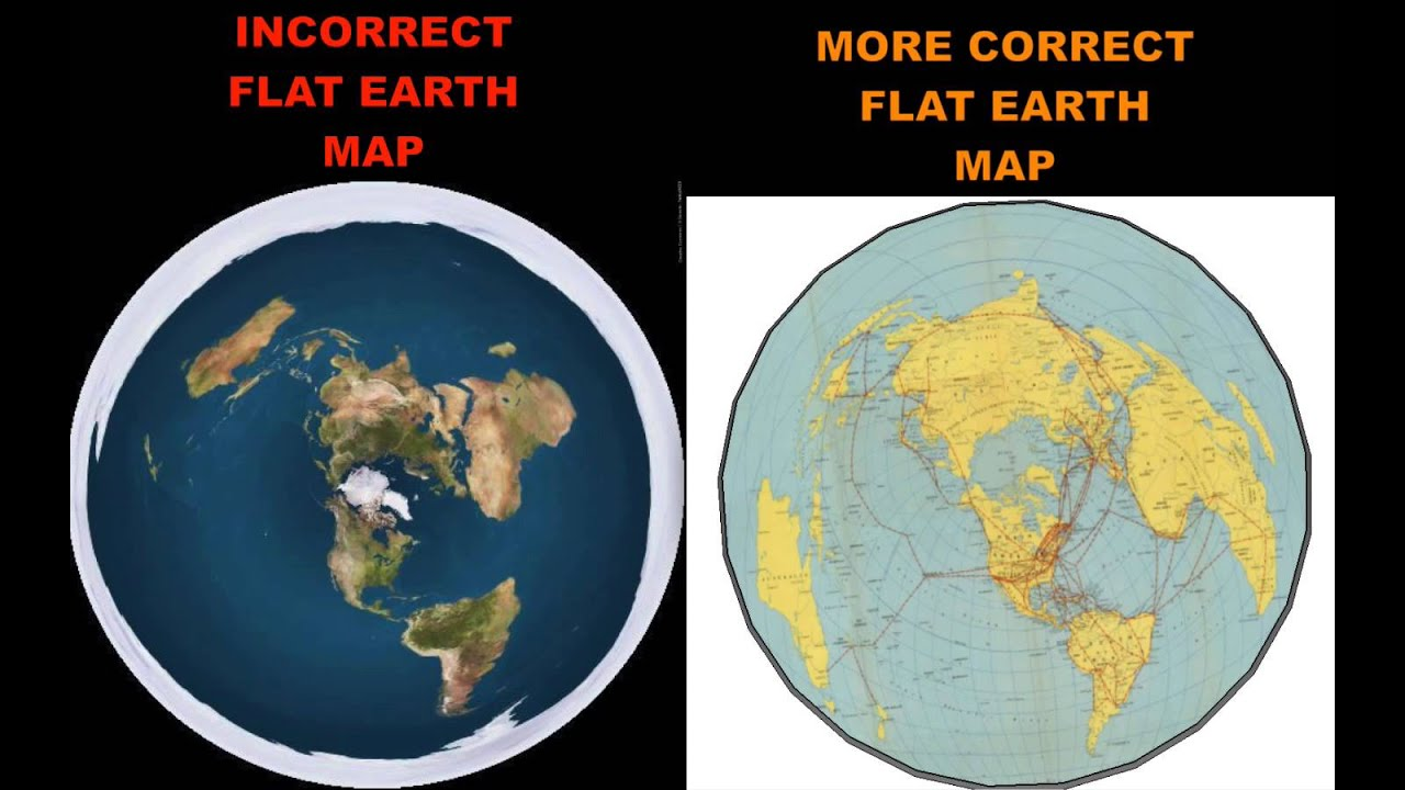MORE CORRECT FLAT EARTH MAP YouTube - Eart map