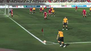 FIFA 12 3DS gameplay video