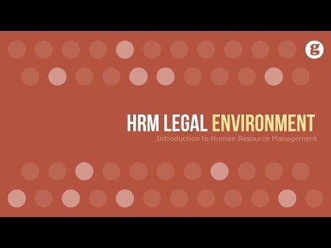 HRM Legal Environment